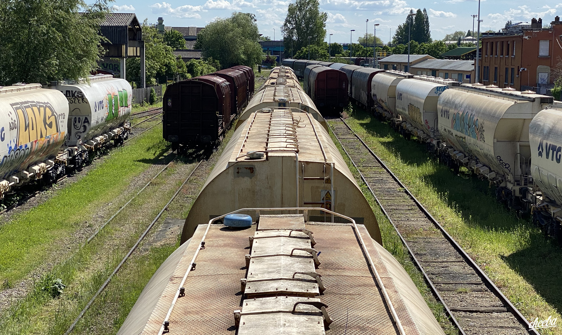 Urbex aux trains du Port du Rhin à Strasbourg - Urbex Alsace by El Cheeba