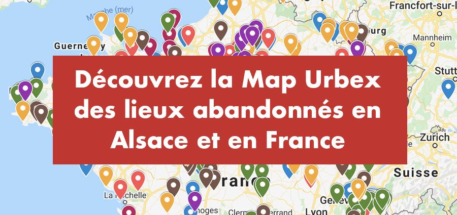 Carte urbex de lieux abandonnés en Alsace - Urbex Alsace